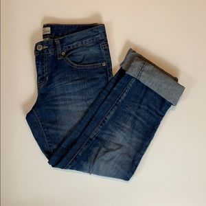 Gap Slim Boyfriend Cuffed Light Wash Ankle Jeans